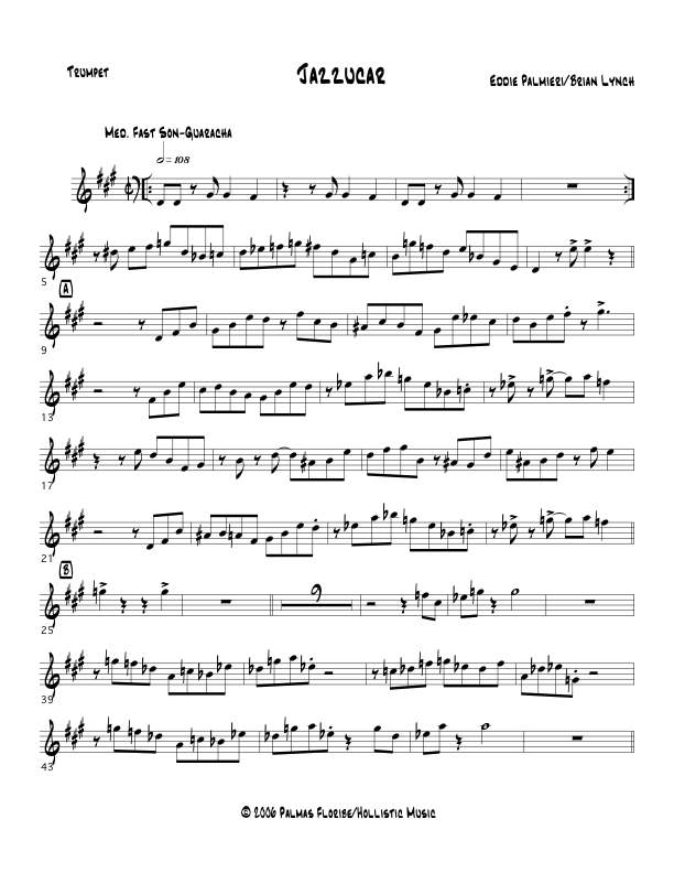 Jazzucar 3 Horn Arrangement