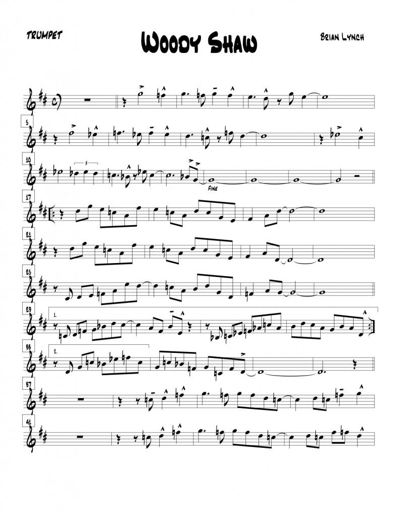 Woody Shaw 2 horn Arrangement